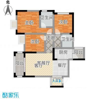仁美大源印象户型3室1厅2卫1厨