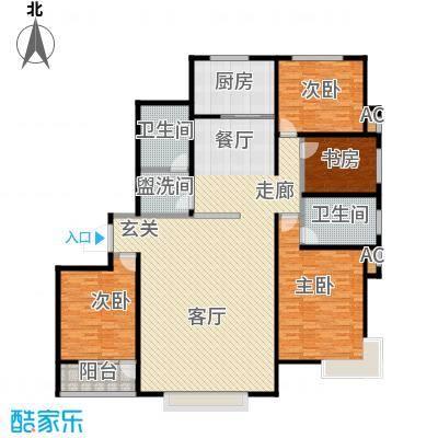 瓯江现代城204.00㎡F1户型4室2厅2卫LL