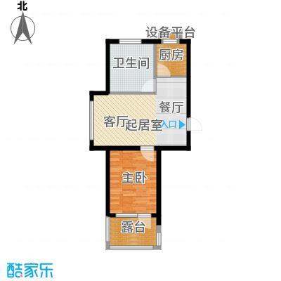 中房东汤一品55.00㎡D2户型 一室一厅一浴户型1室1厅1卫