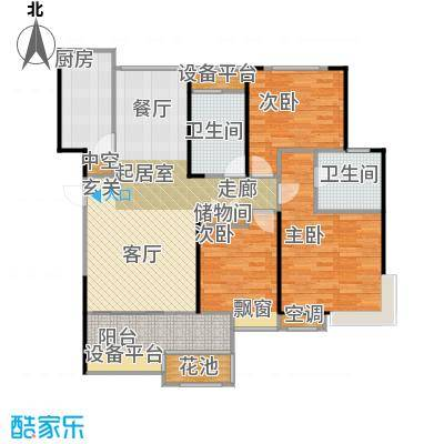 无锡港龙城市商业广场115.00㎡C户型3室2厅2卫