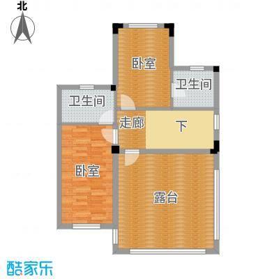 尚荟海岸79.50㎡a8三层户型2卫