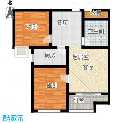 石臼老街6―B户型2室1卫1厨