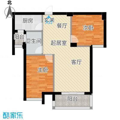 东都国际QQ户型2室1卫1厨