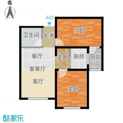 贻成・御景狮城89.00㎡C2户型2室2厅1卫