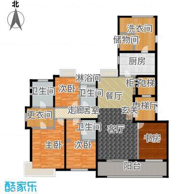九龙仓玺园205.00㎡大平层4+1房户型5室2厅2卫
