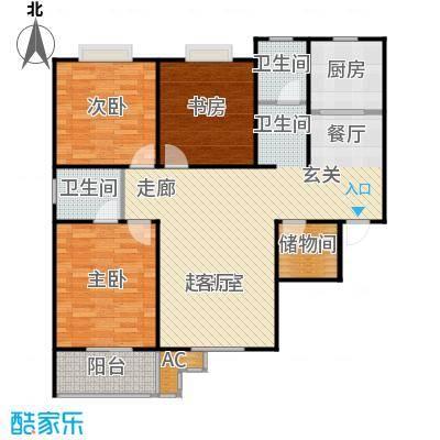 九如居129.98㎡九德苑3室2厅2卫户型3室2厅2卫