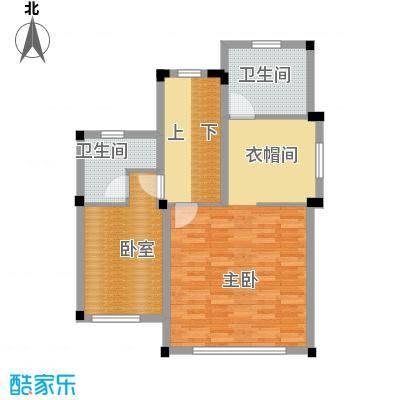 尚荟海岸70.72㎡a1二层户型1室2卫