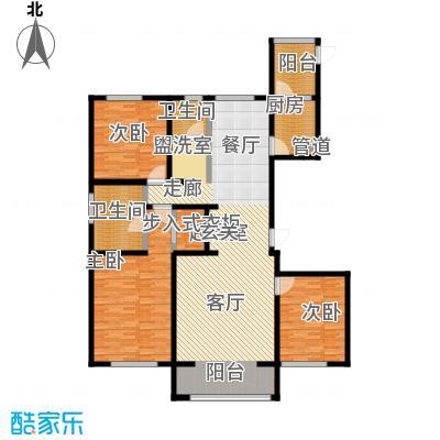 昆仑唐人中心172.00㎡C2户型3室2厅2卫