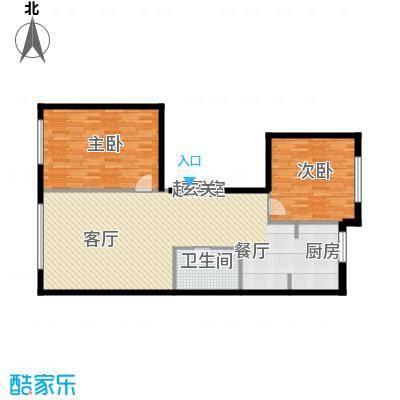 博奥国际104.90㎡博奥国际J面积104.90平户型2室2厅1卫