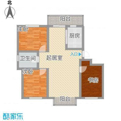 阳光嘉城三期110.00㎡F2户型三室两厅一卫户型3室2厅1卫