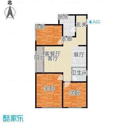 普利林景山庄3室2厅1卫1厨114.08㎡A1户型图户型3室2厅1卫