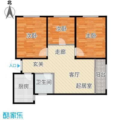 普利林景山庄3室1厅1卫1厨90.20㎡A4一层户型图户型3室1厅1卫