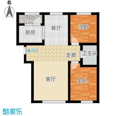 阳光嘉城三期94.00㎡E2户型两室两厅一卫户型2室2厅1卫