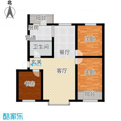 阳光嘉城三期108.00㎡C户型三室两厅一卫户型3室2厅1卫