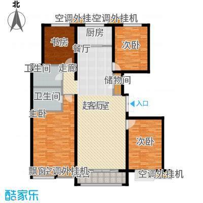 金宇新天地182.13㎡1#C户型182.13㎡户型4室2厅2卫