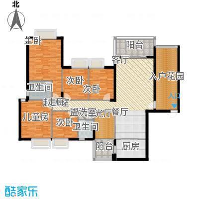金河铭庄179.67㎡五室三厅一厨两卫户型5室3厅2卫