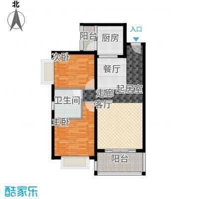 锦绣海湾城84座04单元户型2室1卫1厨