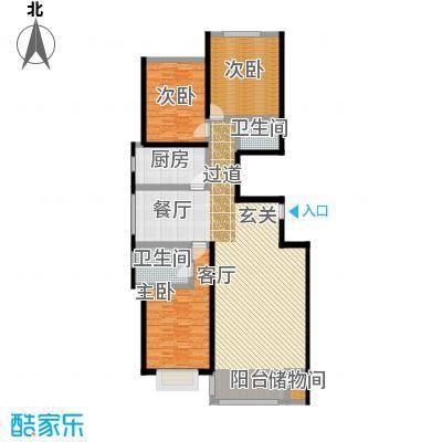 千家和泰・欣家园152.86㎡C户型3室2厅2卫