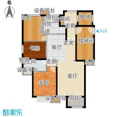 滨江国际B户型3室2厅1卫