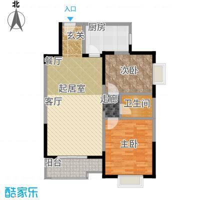 学林雅苑,长安星园87.85㎡在售10号楼2号楼户型2室2厅1卫