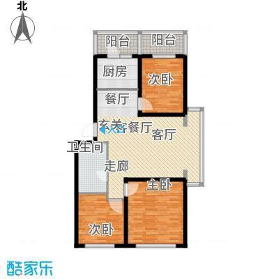 绿树景苑92.00㎡三室两厅一卫户型