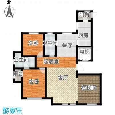 水韵豪庭200.00㎡水韵豪庭标准C户型-26层3室2厅2卫 200.00㎡户型3室2厅2卫