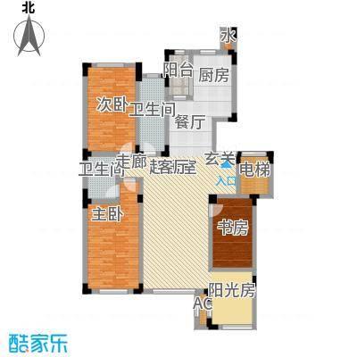 宝丰阁壹�院145.93㎡H户型图4室2厅1卫1厨 �户型4室2厅1卫