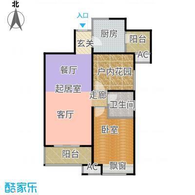 曲江千林郡83.88㎡在售A2户型 两室两厅一卫 赠10.37平米 7.2米餐客一体户型2室2厅1卫
