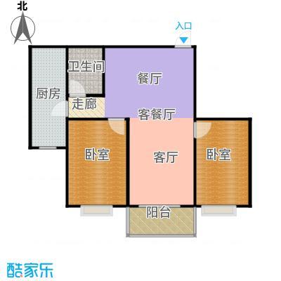 东泽园2室22厅卫 94.6平米户型2室2厅1卫