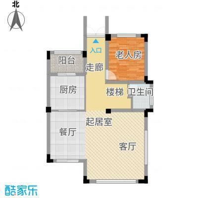 尚荟海岸82.67㎡a2一层户型1室1卫1厨