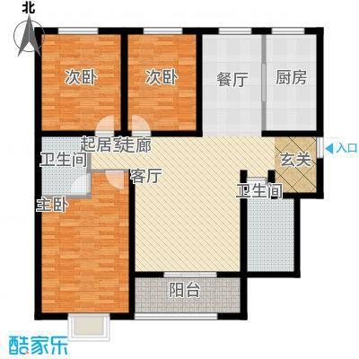 曲江新苑项目G户型123.28平米户型