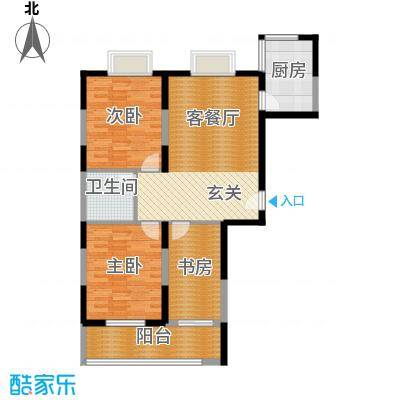 亿龙金河湾94.00㎡三室两厅一卫户型3室2厅1卫