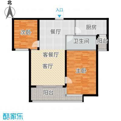 阳光100国际新城92.00㎡A2户型2室2厅1卫