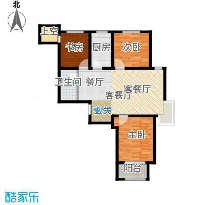 石家庄兰亭105.63㎡C1 三室两厅一卫户型3室2厅1卫