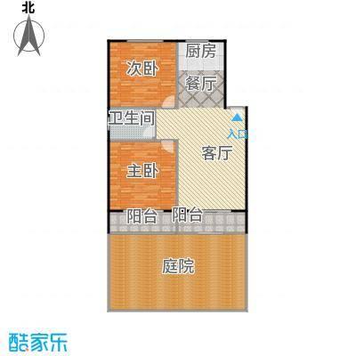 龙屿・香醍溪苑95.00㎡户型2室2厅1卫