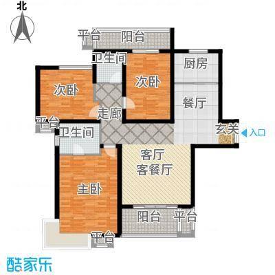 君域豪庭135.00㎡C户型3室2厅2卫