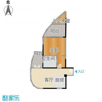 中航元屿海75.40㎡B1-1型户型1室2厅1卫