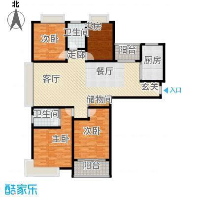 宝龙香槟湖154.00㎡铂仕A1户型4室2厅2卫LL