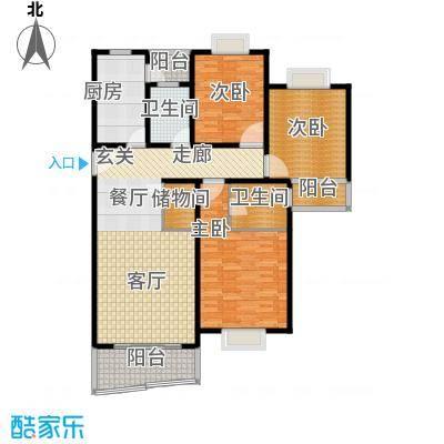 宝虹新苑130.00㎡房型: 三房; 面积段: 130 -147 平方米;户型
