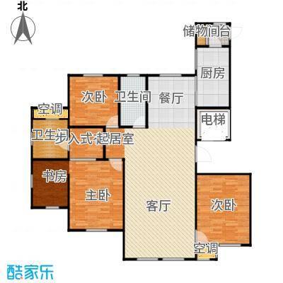 水韵豪庭138.00㎡水韵豪庭标准B户型首层3室2厅2卫 138.00㎡户型3室2厅2卫
