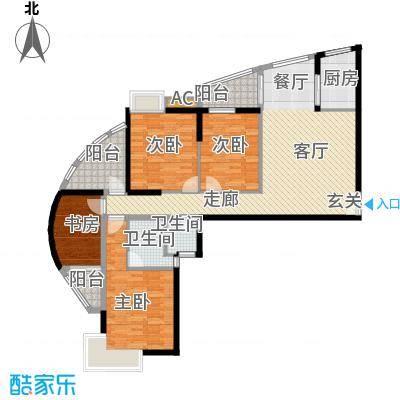 金辰・星河湾四房两厅两卫142㎡户型4室2厅2卫