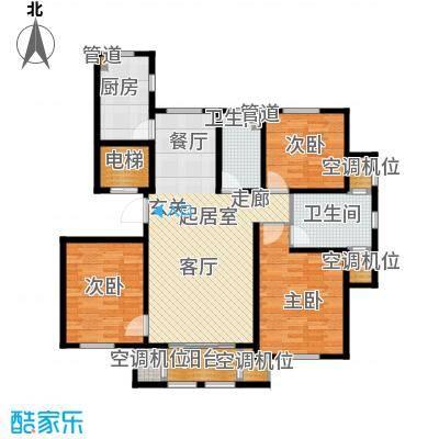 水韵豪庭141.00㎡水韵豪庭标准D户型图3室2厅2卫 141.00㎡户型3室2厅2卫