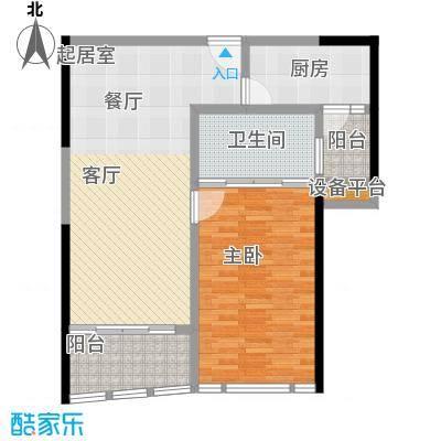 华侨城华寓高级商务套房户型1室1卫1厨