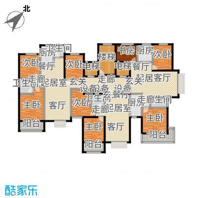 丽景华苑坑爹户型8室4卫3厨