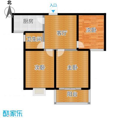水岸金城3室1厅1卫 83平米户型3室1厅1卫