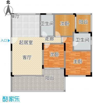 华润小径湾135.00㎡3房135平米户型3室2厅2卫