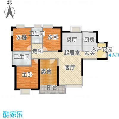 中信观澜凯旋城125.00㎡7、11-12栋F户型3室2卫1厨