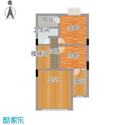 惠州富力湾159.00㎡B户型二层户型2室1卫