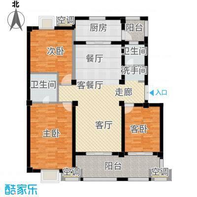 邦泰中央御城140.00㎡D户型 3室2厅2卫2阳台户型3室2厅2卫
