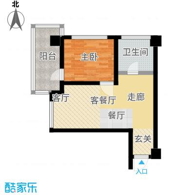 江户城户型1室1厅1卫